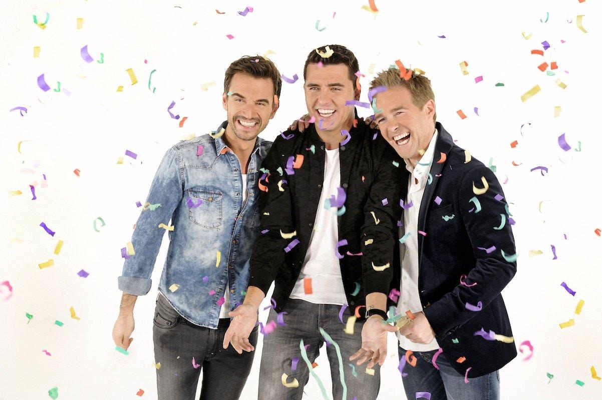 """Seit einem Jahr eine Schlager-Boyband namens """"Klubbb3"""": Florian Silbereisen (l.), Jan Smit und Christoff"""