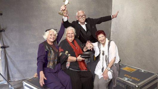 Preisträger BEST OF LET'S PLAY + GAMING: Senioren Zocken v.l.: Ursula Cezanne, Melita Moritz, Peter Zeidler, Evelyn Gundlach