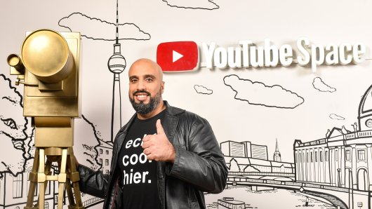 Abdelkarim beim YouTube GOLDENE KAMERA Digital Award 2020