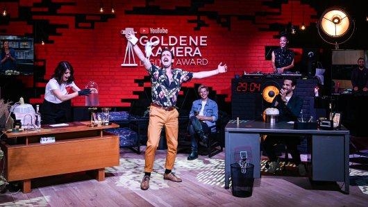 YouTube GOLDENE KAMERA Digital Award 2020: Linda Zervakis, Marti Fischer, Laura Kampf, Daniele Rizzo.
