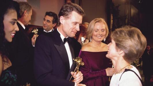 Preisträger 1989: Florence Griffith Joyner, Harry Valérien, Placido Domingo, Robert Atzorn, Ruth Maria Kubitschek, Gratulantin Friede Springer