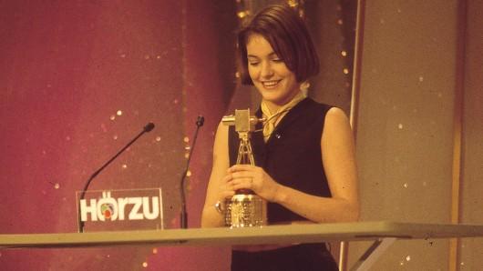 Nicolette Krebitz erhielt 1995 die Lilli-Palmer-Gedächtniskamera (HÖRZU Nachwuchspreis)