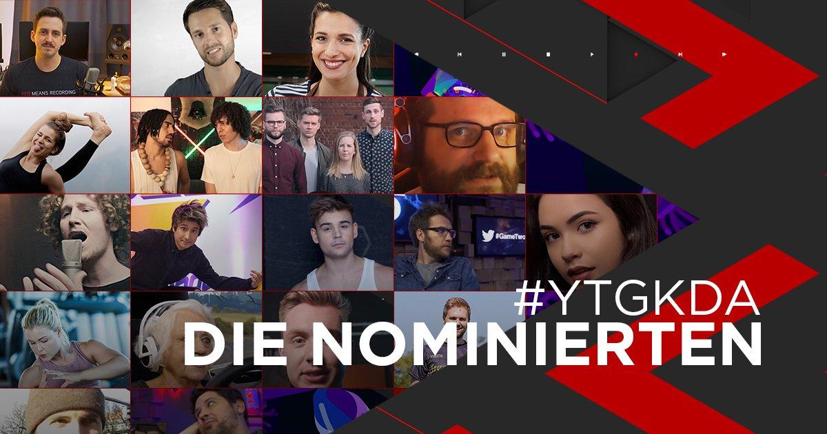 Die Nominierten beim YouTube GOLDENE KAMERA Digital Award 2018