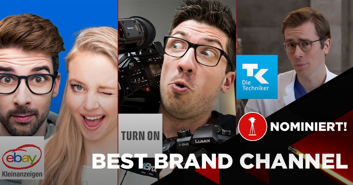 """eBay Kleinanzeigen-WG, Turn On und Die Techniker sind nominiert als """"Best Brand Channel"""""""