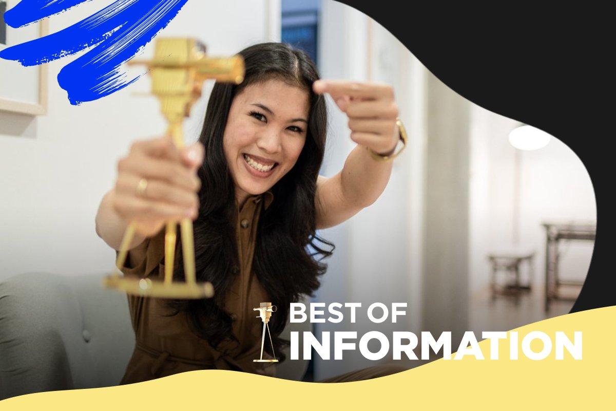 """Mai Thi Nguyen-Kim wurde mit der GOLDENEN KAMERA in der Kategorie """"Best of Information"""" ausgezeichnet."""