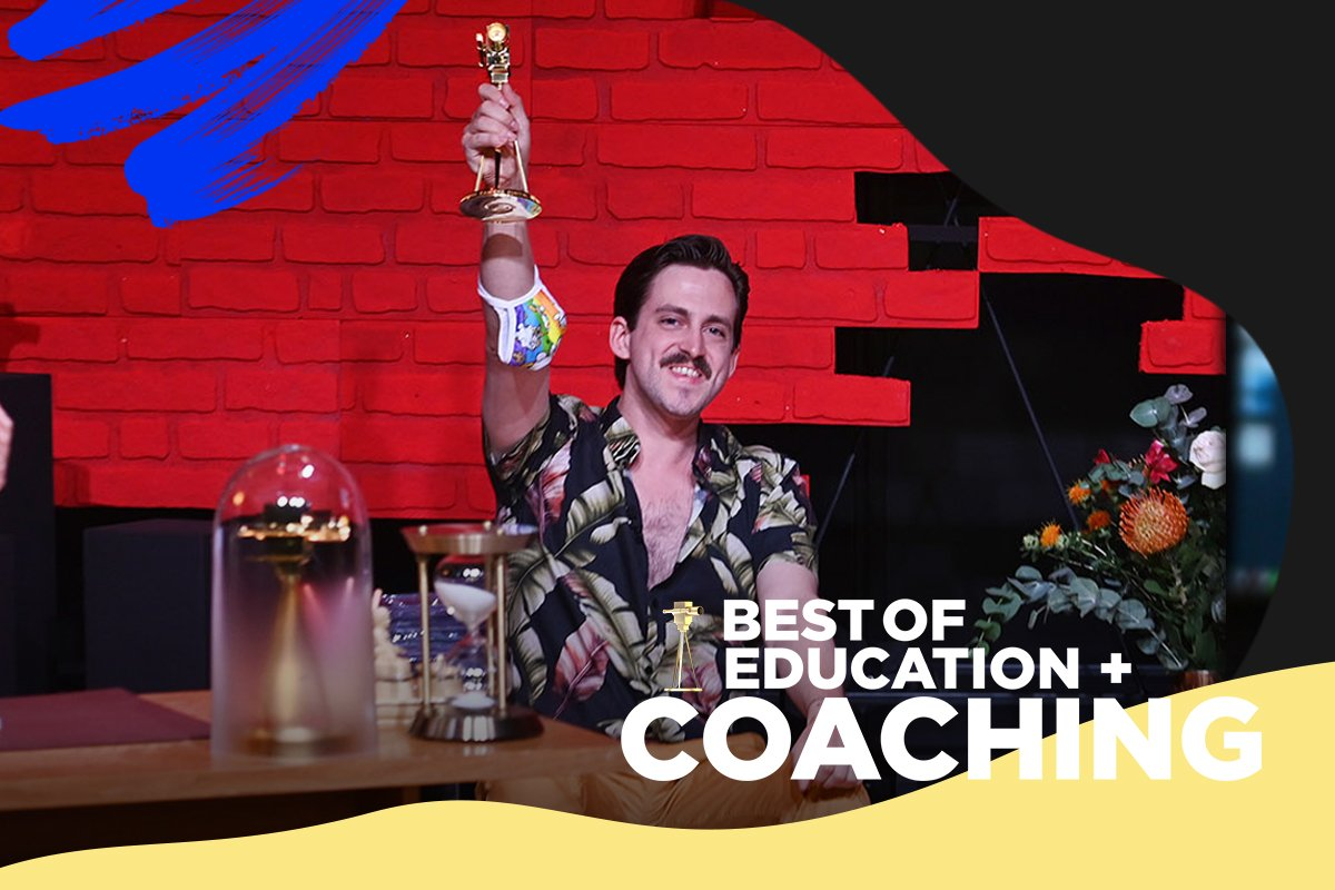 Die zweite GOLDENE KAMERA in der Kategorie Best of Education & Coaching ging an Marti Fischer.