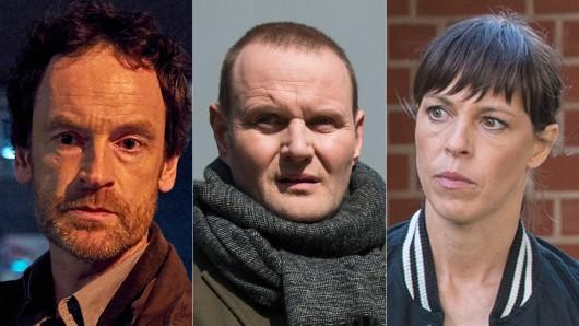 Ursprünglich sollte der Tatort: Sturm mit Jörg Hartmann (l.) Neujahr gesendet werden, dann Väter und Söhne mit Devid Striesow (M.). Gezeigt wird nun ein Polizeiruf mit Anneke Kim Sarnau.