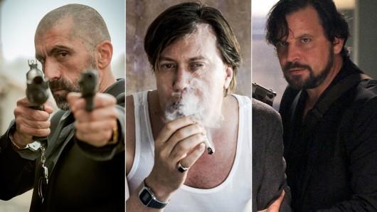Die TV-Bösewichte vom Dienst Erdal Yildiz, Nicholas Ofczarek und Martin Feifel.