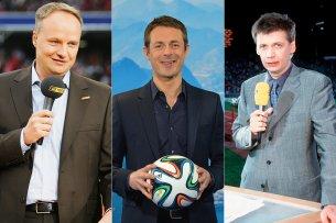 Show und Sport: Die Moderatoren Oliver Welke, Alexander Bommes und Günther Jauch kennen sich in beiden TV-Welten aus.