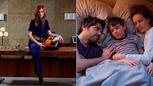 Neue Serien: Claudia Eisinger ist Zarah(l.), Sohn Nick (Levi Eisenblätter, M.) Papa Jan (Pasquale Aleardi, l.) und Mama Sara (Chiara Schoras) haben ein Pubertier Zuhause.