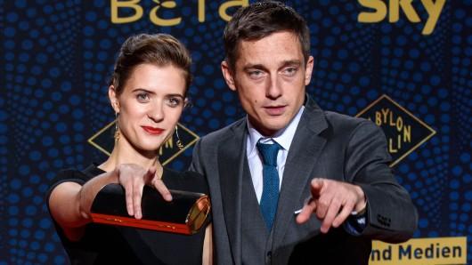 Die Hauptdarsteller von Babylon Berlin: Liv Lisa Fries und Volker Bruch bei der Premiere in Berlin.
