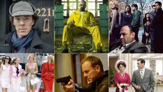 Von Breaking bad über 24 bis zu Dexter (v.l.): das sind die Meilensteine von knapp zwei Jahrzehnten Seriengeschichte.