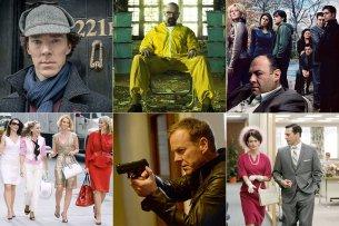 """Von """"Breaking bad"""" über """"24"""" bis zu """"Dexter"""" (v.l.): das sind die Meilensteine von knapp zwei Jahrzehnten Seriengeschichte."""