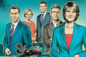Die Nachrichtenmoderatoren im deutschen Fernsehen gelten als überaus glaubwürdig.