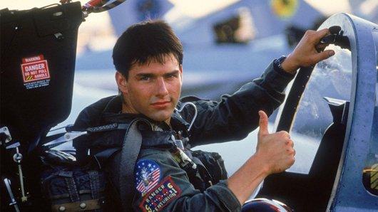 Tom Cruise als Kampfpilot Maverick in Top Gun (1986).