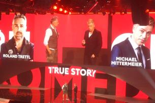"""Comedian Michael Mittermeier und Starkoch Roland Trettl präsentieren ihre Comedy-Show """"True Story""""."""