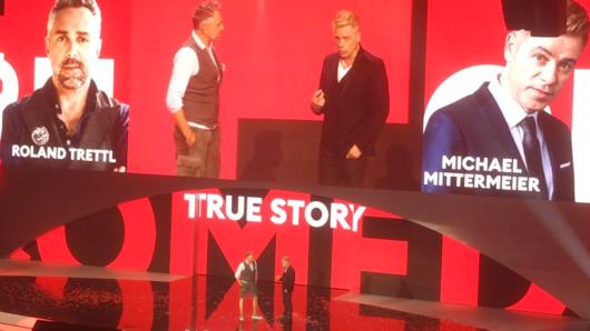 Comedian Michael Mittermeier und Starkoch Roland Trettl präsentieren ihre Comedy-Show True Story.