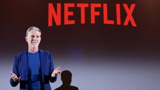 Netflix-Geschäftsführer Reed Hastings während einer Präsentation im April 2018 in Rom.