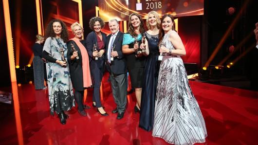 Die sechs Preisträgerinnen der GOLDENE BILD der FRAU 2018