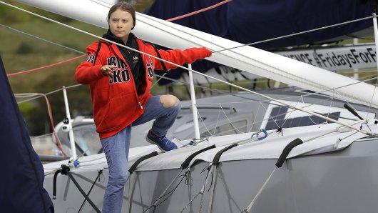 Greta Thunberg an Bord der Malizia.