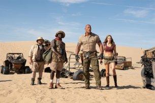 Jumanji 2:  Jack Black, Kevin Hart, Dwayne Johnson, Karen Gillan.