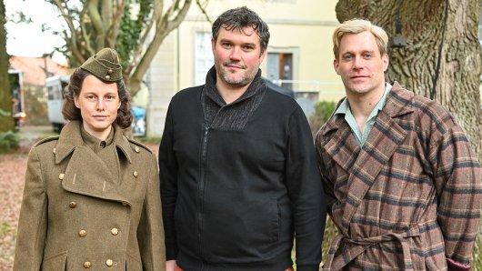 Picco von Groote, Carsten Gutschmidt Ken Duken und Ken Duken am Set von Der blonde Hans.