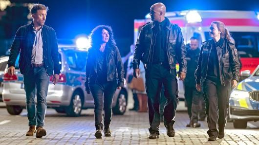 Peter Fieseler, Maria Ketikidou, Patrick Abozen und Wanda Perdelwitz (v.l.) stehen auch für den Großstadt-Film St. Pauli, 6 Uhr 07 vor der Kamera.
