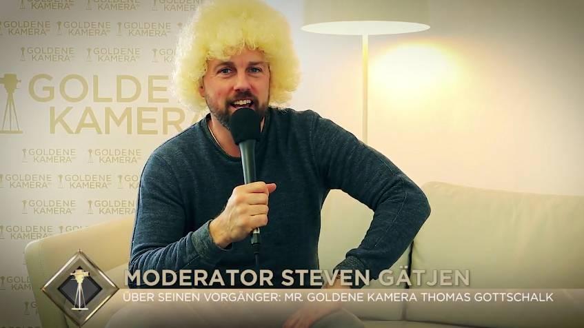 Steven Gätjen Vor Der Goldenen Kamera 2018 Goldene Kamera