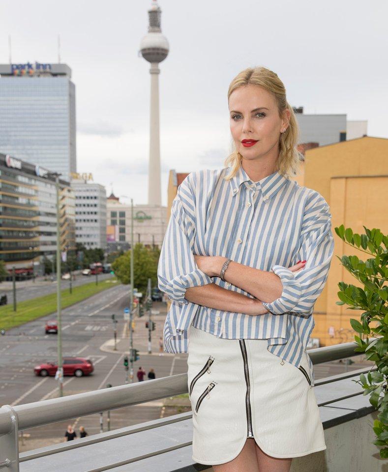 Charlize Theron beim Pressetermin in Berlin.