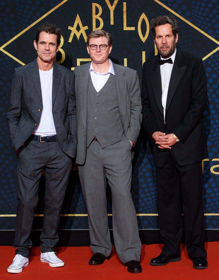 """Die Showrunner von """"Babylon Berlin"""": Tom Tykwer, Henk Handloegten und Achim von Borries  bei der Premiere in Berlin."""