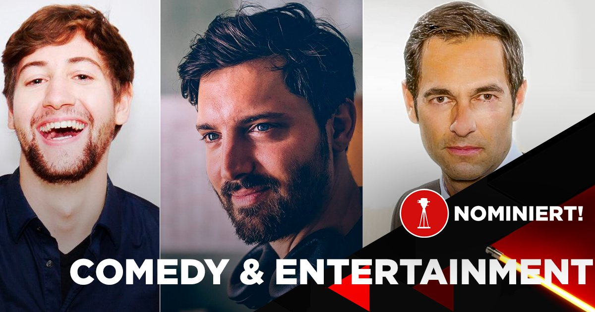 "RobBubble, DeChangeman und Postillon24 sind nominiert in der Kategorie ""Best of Comedy & Entertainment""."