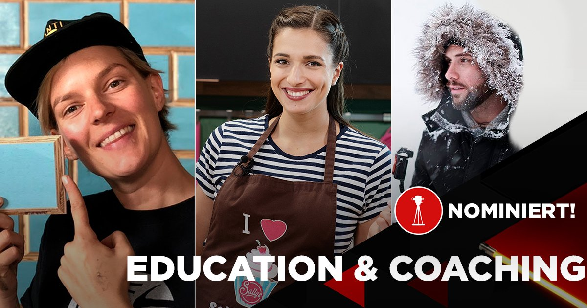 "Laura Kampf,  Saliha ""Sally"" Özcan und Benjamin Jaworskyj sind nominiert in der Kategorie ""Best of Education & Coaching""."