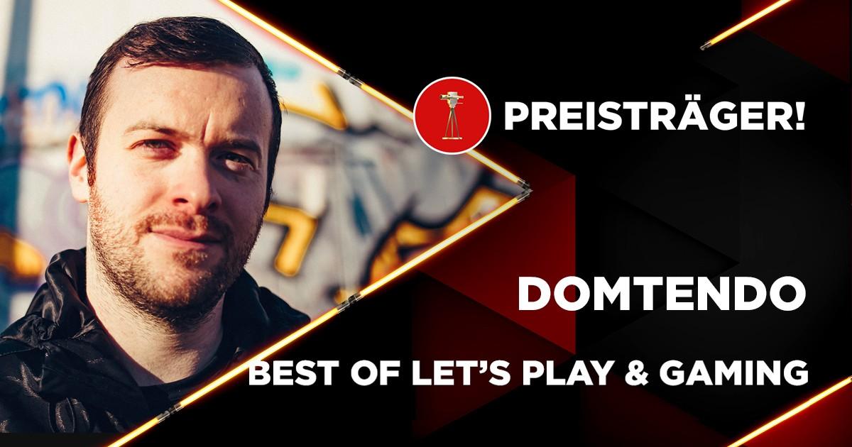 Domtendo (26) wurde von den Usern zum besten Let's Player & Gamer gewählt