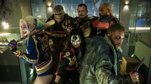 Harley Quinn (Margot Robbie), Killer Croc (Adewale Akinnuoye-Agbaje), Katana (Karen Fukuhara), Rick Flagg (Joel Kinnaman), Deadshot (Will Smith) und Boomerang (Jai Courtney).