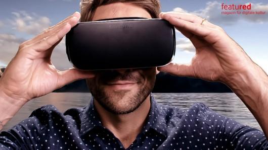 Bewegungssensoren in der VR-Brille registrieren die Bewegung in der realen Welt