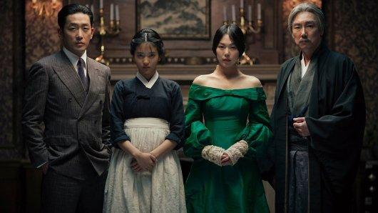 Das Taschendiebin-Ensemble (v.l.n.r.): Jung-woo Ha, Tae-ri Kim, Min-hee Kim und Jin-woong Jo