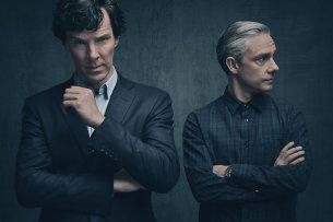 Sherlock Holmes (Benedict Cumberbatch, l.) und John Watson (Martin Freeman)