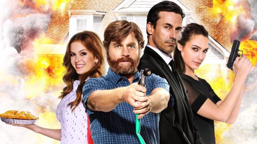Karen (Isla Fisher, l.) und Jeff Gaffney (Zach Galifianakis) und Die Jones Tim (John Hamm) und Natalie (Gal Gadot) © 20th Century Fox