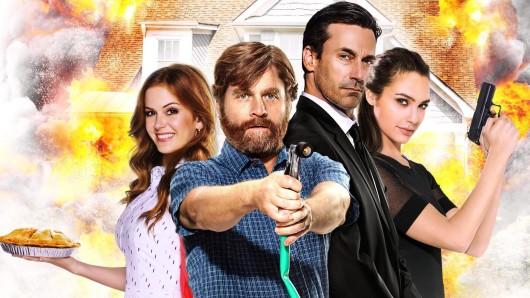 Karen (Isla Fisher, l.) und Jeff Gaffney (Zach Galifianakis) und Die Jones Tim (John Hamm) und Natalie (Gal Gadot) © 20th Century Fox