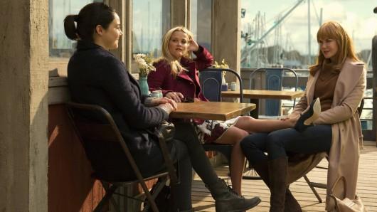 Der mütterliche Freundeskreis in Big Little Lies: Jane Chapman (Shailene Woodley, l.) Madeline Mackenzie (Reese Witherspoon) und Celeste Wright (Nicole Kidman)