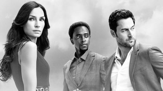 Promo-Artwork zu The Blacklist: Redemption mit Famke Janssen, Edi Gathegi und Ryan Eggold