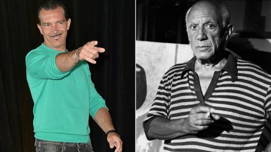Antonio Banderas (57) spielt in der neuen Staffel von Genius Pablo Picasso (r.) Foto: Getty Images.