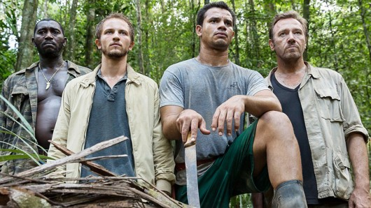 Machen Jagd aufs Dschungel-Gold: (v.l.) Vincent (Mathieu Spinosi), Louis (Issaka Sawadogo) und Antoine Serra (Olivier Rabourdin)
