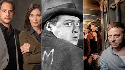 2018 wird spannend mit Die Protokollantin mit Moritz Bleibtreu und Iris Berben (l.), der neuen Serie M – eine Stadt sucht einen Mörder (M.) und dem 8-Teiler Das Boot mit Tom Wlaschiha.