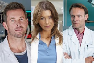 "Das sind nur drei der derzeitigen Stars unter den Weißkitteln (v.l.): Jan Hartmann in ""Lifelines"", Ellen Pompeo in ""Grey's Anatomy"" und Bernhard Bettermann in ""In aller Freundschaft""."