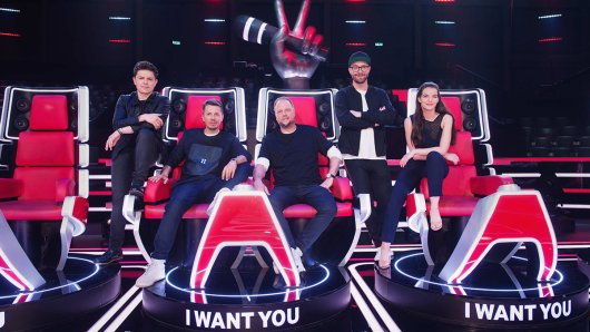 Das war die The Voice of Germany-Jury 2018: Michael Patrick Kelly, Smudo, Michi Beck, Mark Forster und Yvonne Catterfeld.