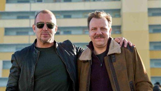 SOKO-Ermittler Ingo Thiel (Heino Ferch (I) und sein Patner Winni (Ronald Kukulies).