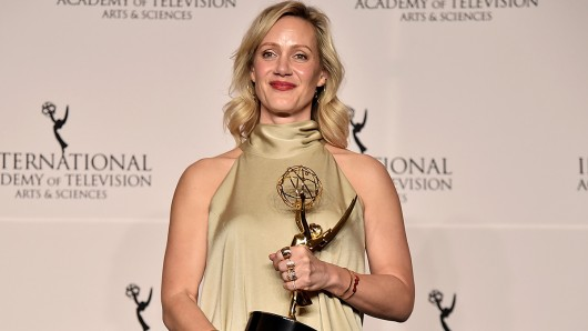 Anna Schudt bei den International Emmy Awards 2018.
