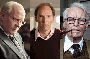 Echte Verwandlungskünstler: Christian Bale, Benedict Cumberbatch und Tilda Swinton in ihren aktuellen Rollen.