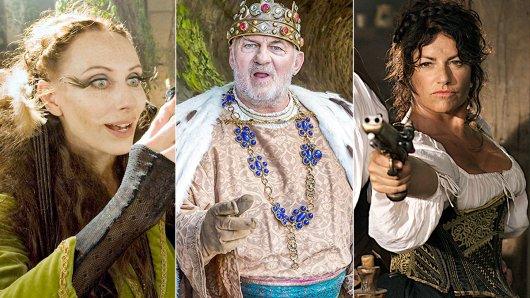 Märchenhaft: Andrea Sawatzki als böse Stiefmutter, Hönig als König und Christine Neubauer als gierige Wirtin.